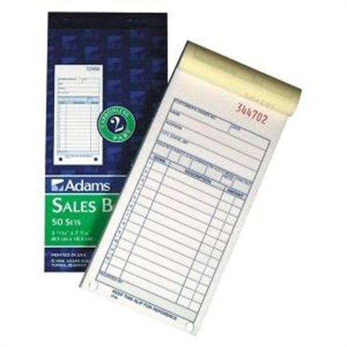 Adams Business Forms Sales Order Book, 3-Part, 3-11/32''x7-3/16'' (Set of 2)