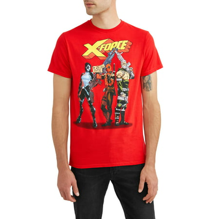 Marvel Xforce men's trio group shot short sleeve graphic t-shirt, up to size 2xl
