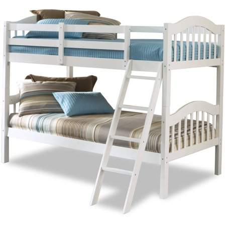 Storkcraft Long Horn Twin Over Twin Wood Bunk Bed White Box  Walmart Com