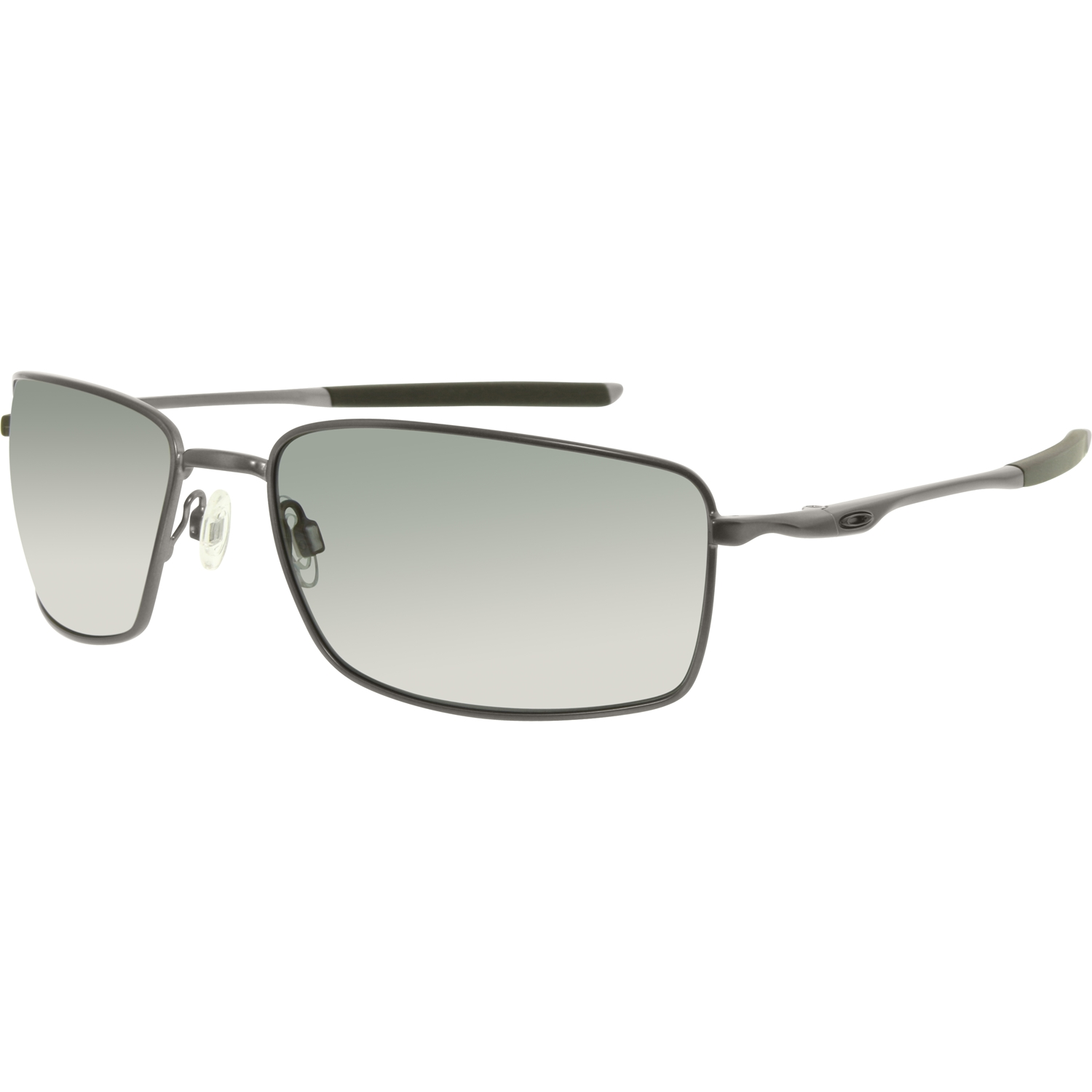 9d4b1075d87 Oakley Men s Polarized Square Wire OO4075-04 Gunmetal Rectangle ...