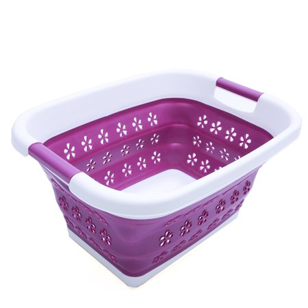Leds For Clothing (Multifunctional Large Folding Laundry Hamper Basket Fruits Vegetables Drainer Basket with Lid Space Saving Storage Container Organizer for Holding Fruit, Vegetables,)