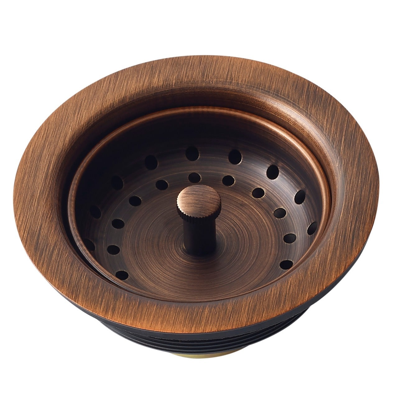 Sinkology 3.5-inch Antique Copper Finished Solid Brass Kitchen Sink Strainer