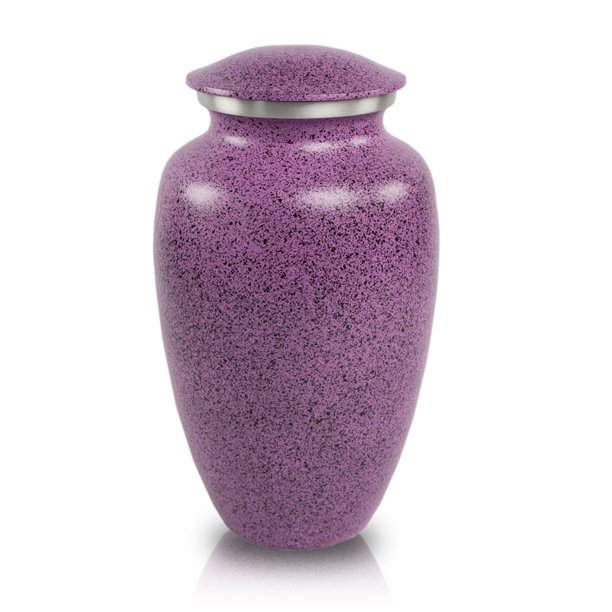 Two-Tone Lilac Classic Cremation Urn - Purple Metal 200 Pounds Large