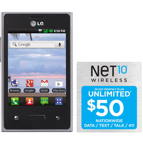Net10 Lg Optimus Logic L35g Plus $50 Unl