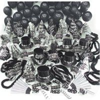 New Year's Eve Silver Sensation Party Kit for 100