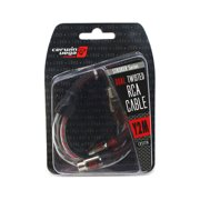 Cerwin-Vega CRSY2F 1-Feet Dual Twisted RCA Metal Cable