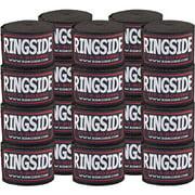 "Ringside Cotton Standard Boxing Handwraps - 170"" - 10 Pack Black"