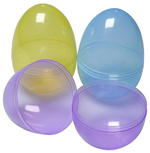 Jumbo 6in Assorted Color Easter Eggs (6 Pack)