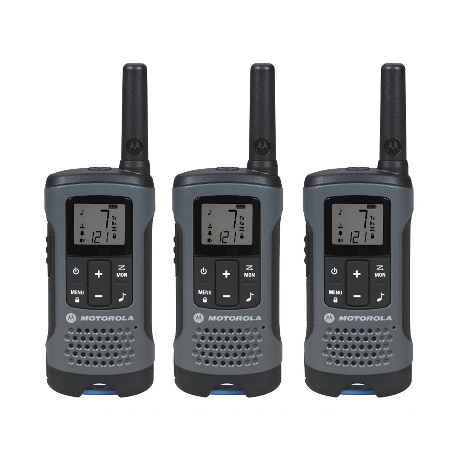 Walkie Talkies, Motorola Talkabout T200tp 3pk Gray Walkie Talkie Rechargeable