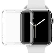 For Apple Watch Series 5 (44mm) Case, Clear TPU Protective Cover Armor, Shock Adsorption, Drop Protection