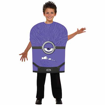 Purple Minion Child Halloween Costume - Kid Minion Halloween Costume