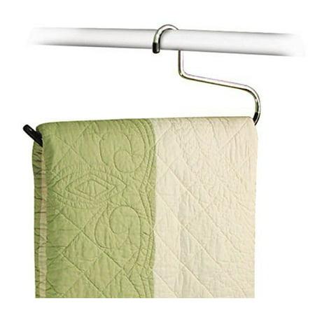 Stock Your Home Set of 6 Vinyl Heavy Duty Comforter Blanket Hangers for Blanket, Quilt, Comforter, Bed Sheet, Table Cloth, Towel, Rug & Sleeping Bag Closet Storage Organization – 40