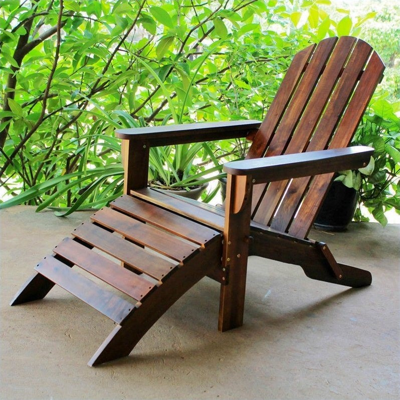 Pemberly Row Outdoor Chair in Natural Stain