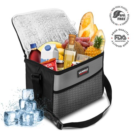 9.5L Cooler Bag,NASUM 28.5x17x21cm Oxford Fabric Thermal Cooler Waterproof Insulated Portable Picnic Travel Lunch Ice Food Bag Family Camping Travel or Food Delivery and Takeaway
