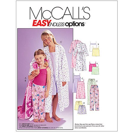 Girls Pinafore Pattern - McCall's Pattern Children's and Girls' Robe, Belt, Tops, Gown, Shorts and Pants, Y (XS, S)