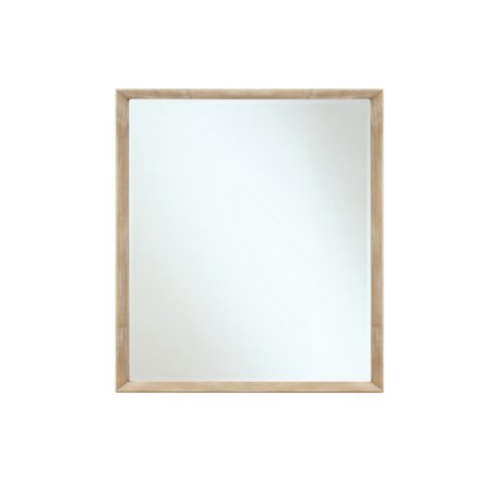 Emerald Home Aden White Oak and Charcoal Gray Mirror with Dresser Attachment ()