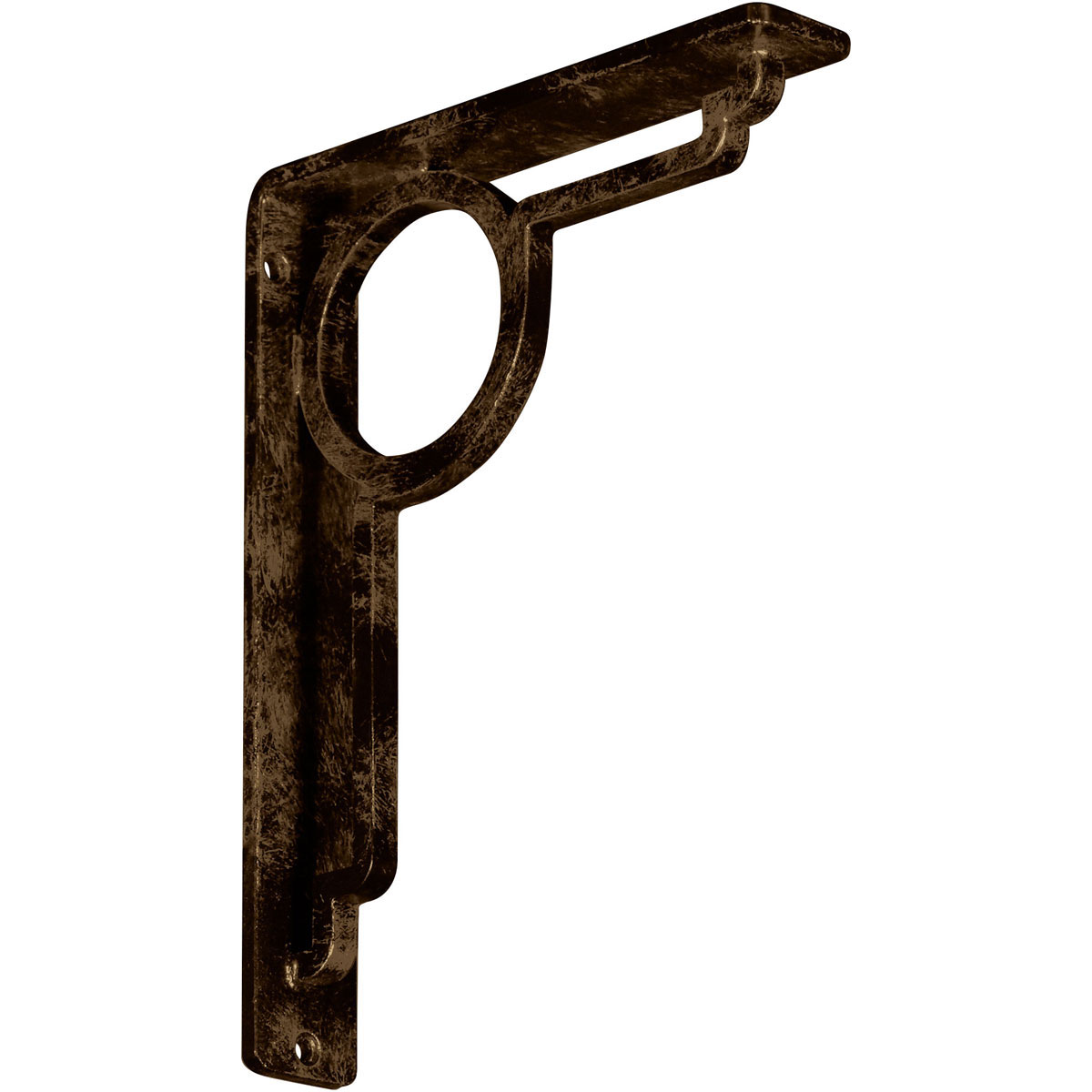 "1 1/2""W x 7 1/2""D x 10""H Maria Wrought Iron , (Single center brace), Antiqued Brass"