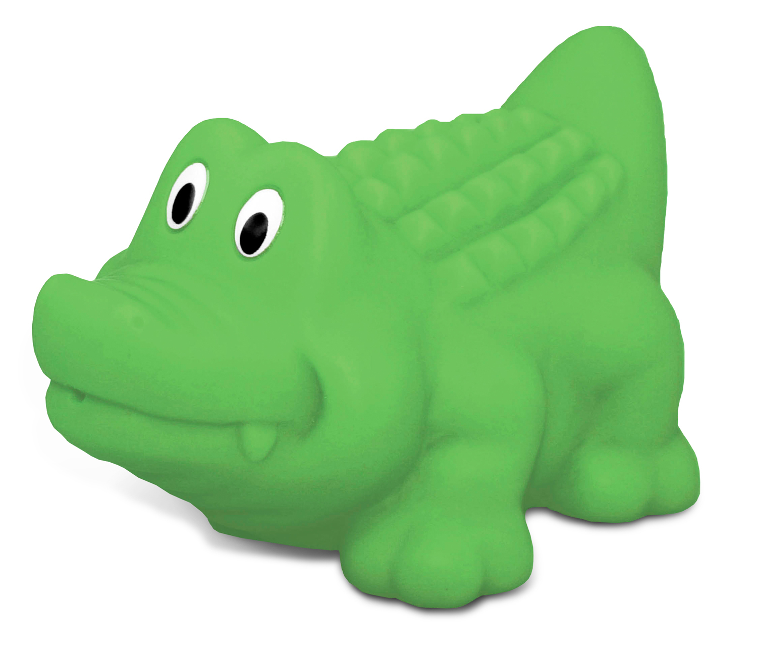 Toddler Bathtime Learning Toy Dollibu Bath Buddies Green Alligator Rubber Squirter Toy... by Puzzled Inc