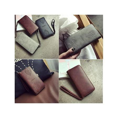 New Women Purse Clutch Leather Wallet Long Card Holder Phone Zip Handbag