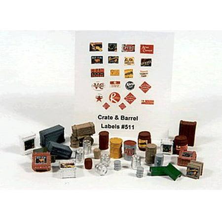HO Crates, Kegs & Barrels (30pc) ()