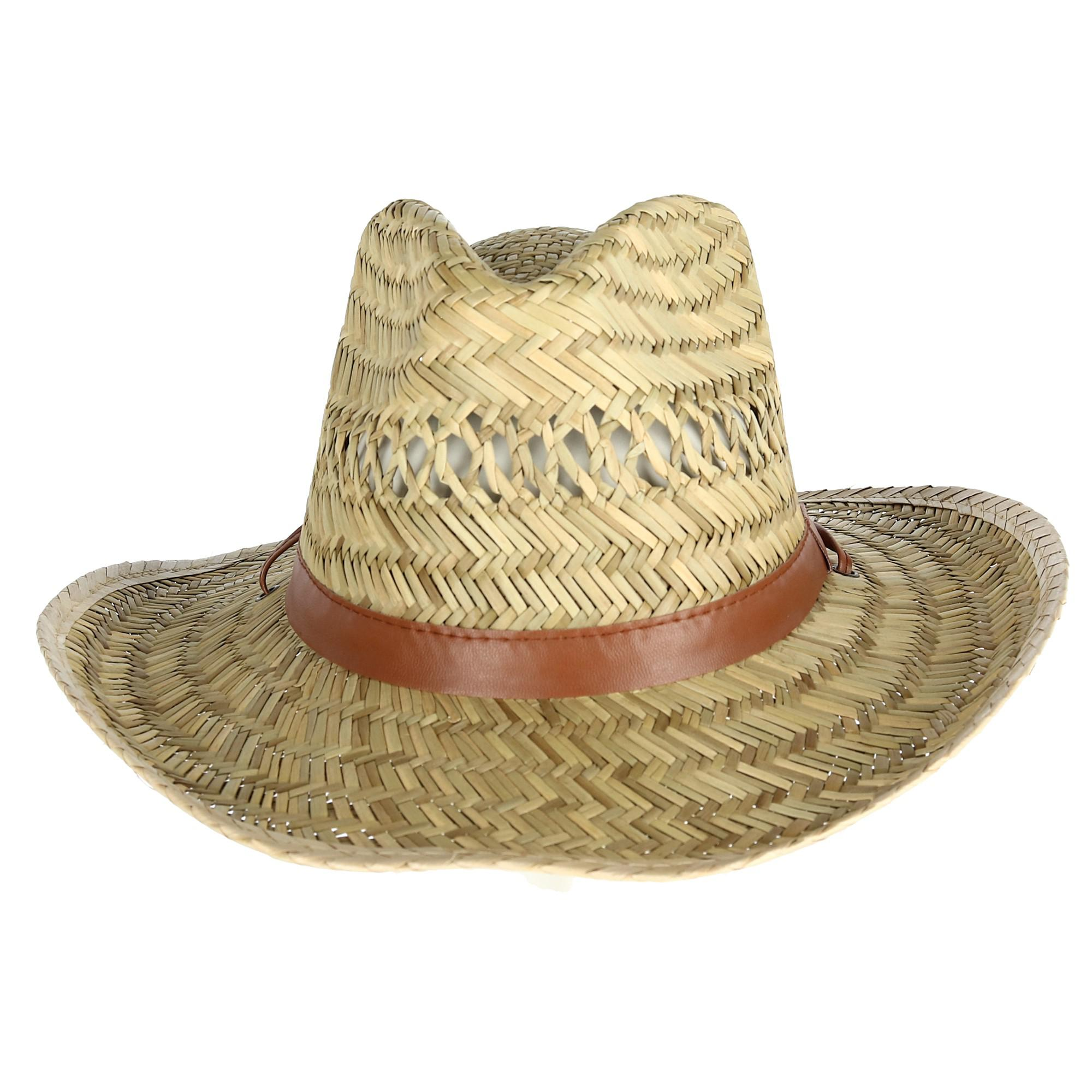 Kenny K Men's Rush Straw Lightweight Safari Hat with Chin Cord - image 5 of 5