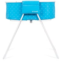 Furesh Elevated Folding Pet Bath Tub and Wash Station for Bathing, Shower, and Grooming, Foldable and Portable, Indoor and Outdoor, Perfect for Small and Medium Size Dogs, Cats and Other Pets, Blue