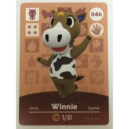 Amiibo Card Animal Crossing Happy Home Design Card WINNIE 046/100 - Happy Halloween Winnie