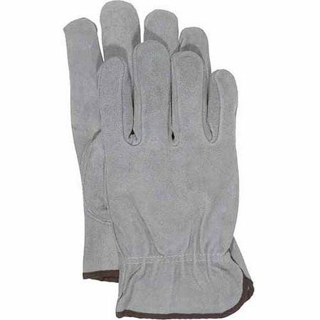 Premier Unlined Gloves - Boss Large Grey Unlined Split Leather Gloves