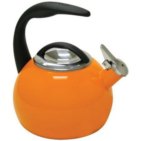 Chantal 2-Quart Enamel on Steel 40th Anniversery Vintage Teakettle - Orange