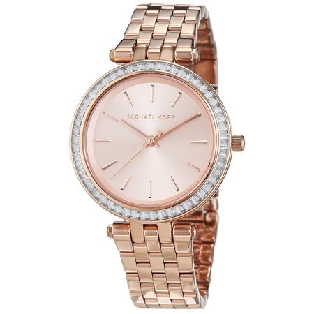 5c7669b4ddd6 Michael Kors - Michael Kors Women s Mini Darci Rose Gold-Tone Stainless  Steel Watch MK3366 - Walmart.com