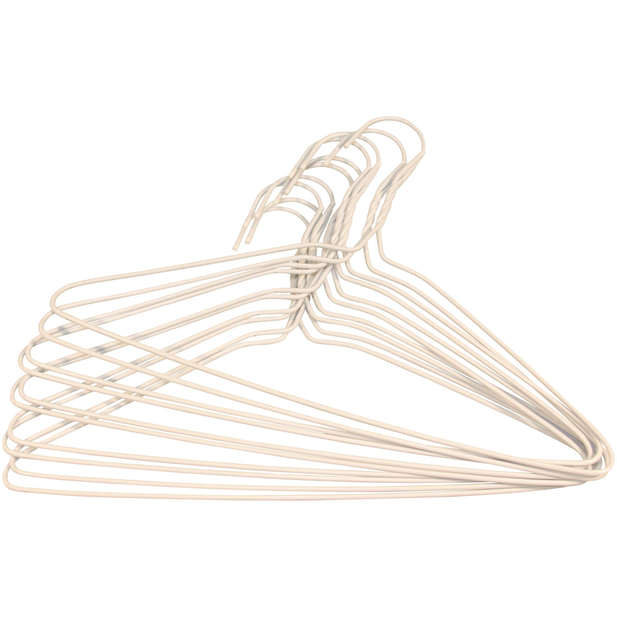 Mainstays Wire Hangers 10pk White Walmart Com