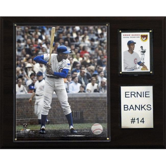 C & I Collectables 1215EBANKS MLB Ernie Banks Chicago Cubs Player Plaque