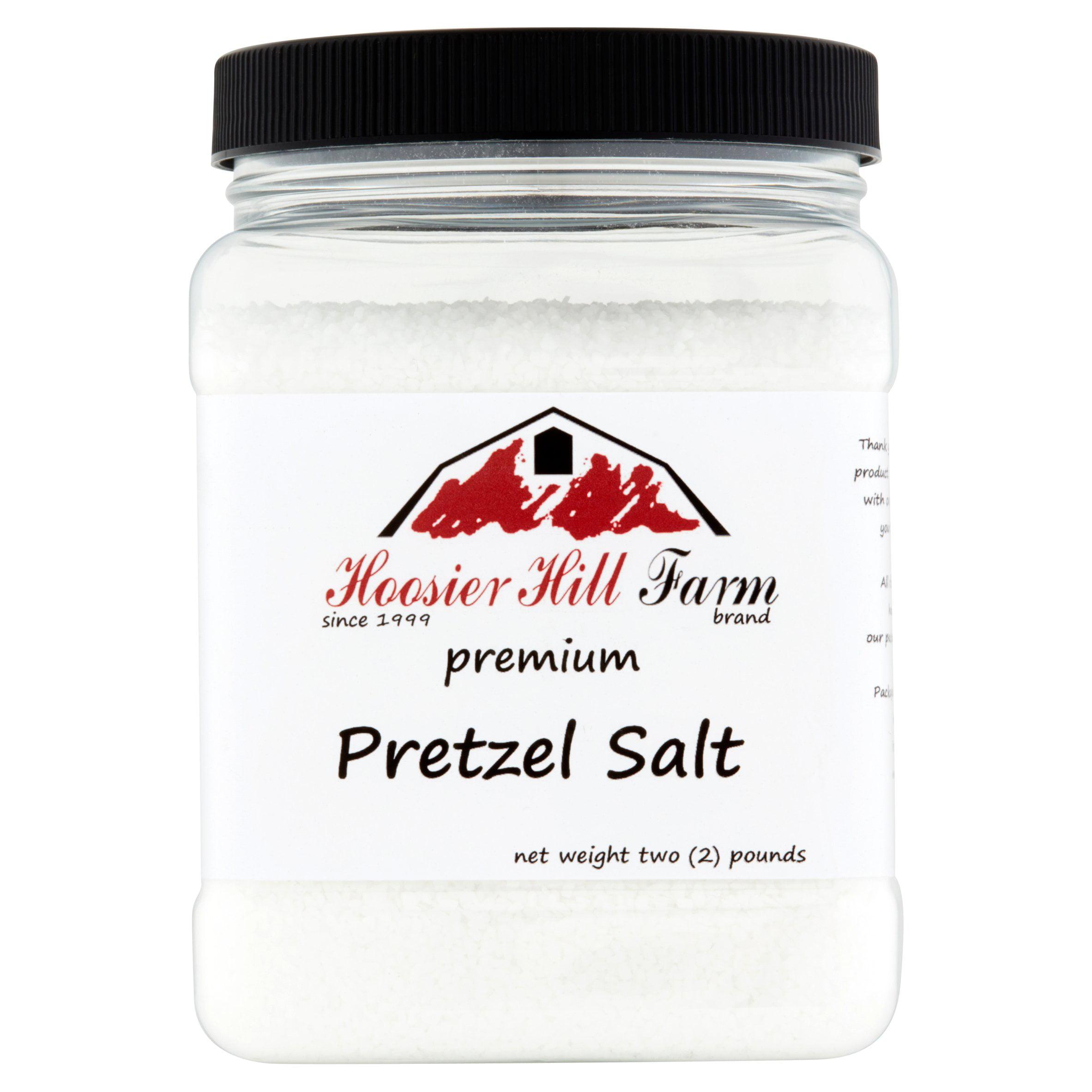 Hoosier Hill Farm Coarse Pretzel Salt, 2 lbs plastic jar