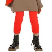Little Girls Geranium Red Jersey Designer Leggings 2-6