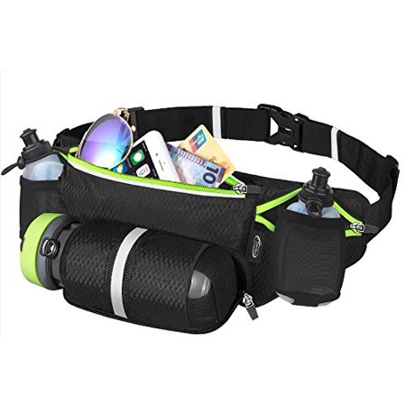 91bb3c7fb16c Waist Pack with Water Bottle Holder, Fanny Pack/Pouch Bag for Women  Running, iPhone Samsung Waterproof Purse Pockets Running Belt for Fitness  Jogging ...