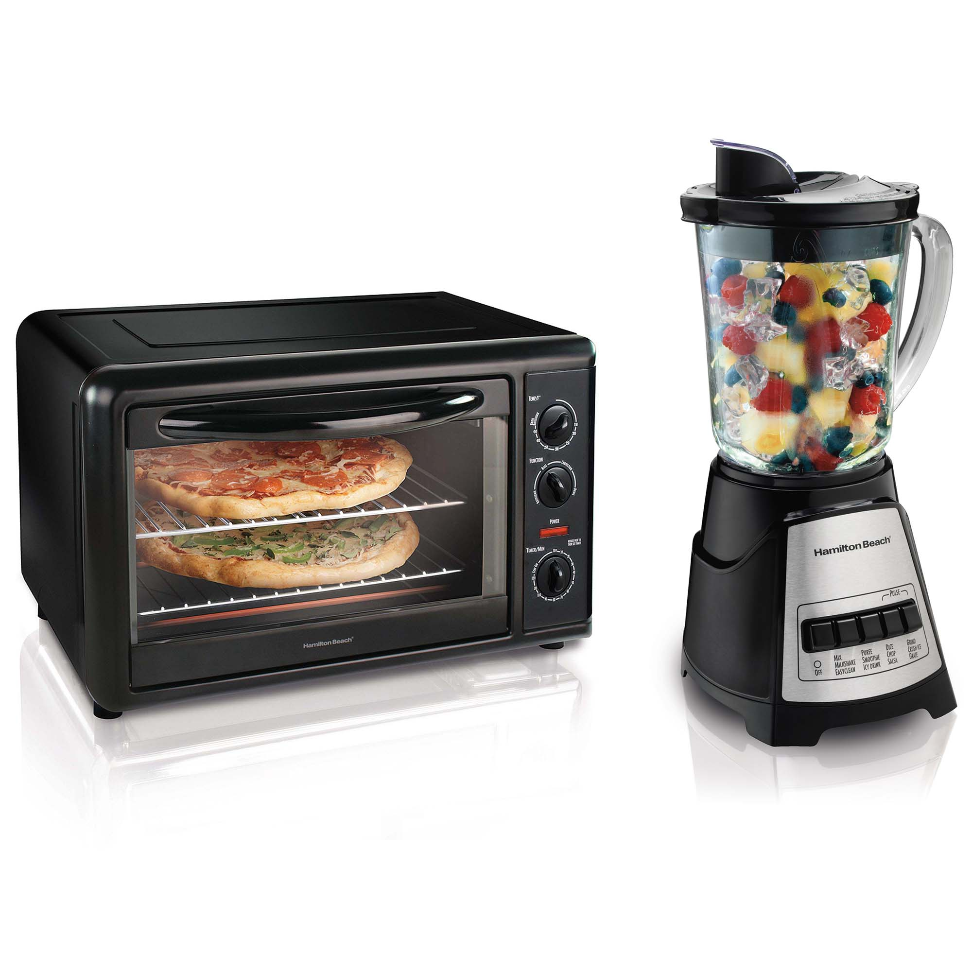 Hamilton Beach Toaster Oven with Convection + Elite Multi-Function Blender