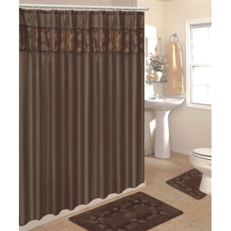 4 Piece Bathroom Rug Set 3 Piece Chocolate Ring Bath Rugs With