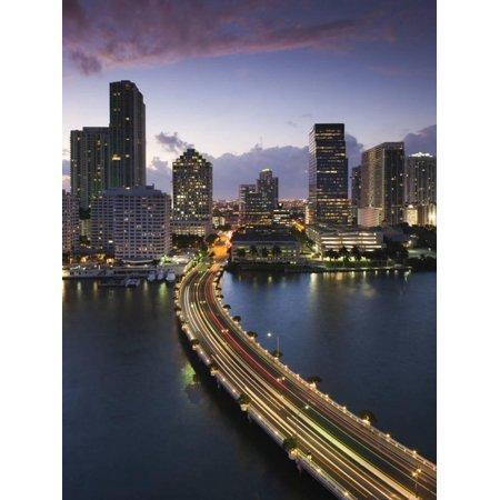 USA, Florida, Miami, Elevated City Skyline from Brickell Key Print Wall Art By Walter Bibikow](Party City In Miami Gardens)