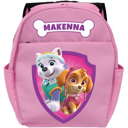 Personalized PAW Patrol Pretty Pups Pink Girls Toddler Backpack