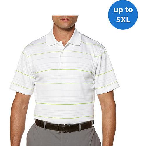 Ben Hogan Big Men's Short Sleeve Striped Yd Polo
