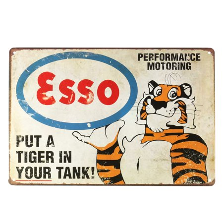 Tiger Vintage Retro Metal Tin Sign Poster Plaque for Bar Cafe Coffee Shop Home Wall Decor 8''x12'' - Metal Home Cafe Signs