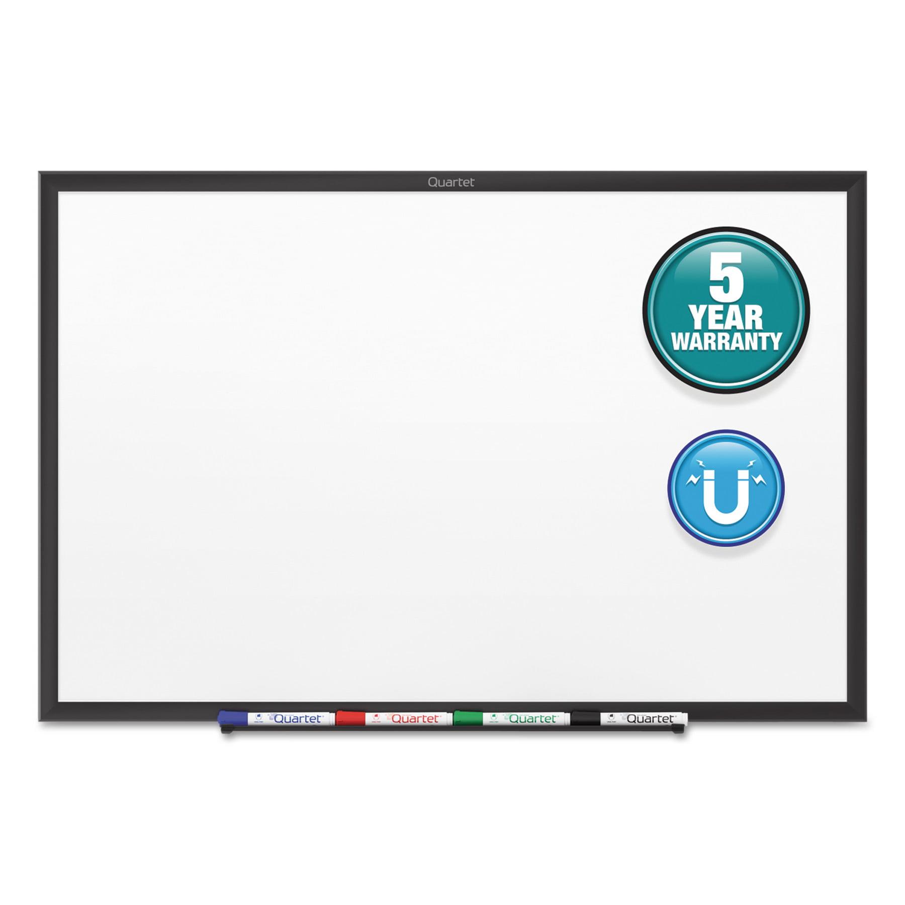 Quartet Classic Series Magnetic Whiteboard, 96 x 48, Black Aluminum Frame by QUARTET MFG.