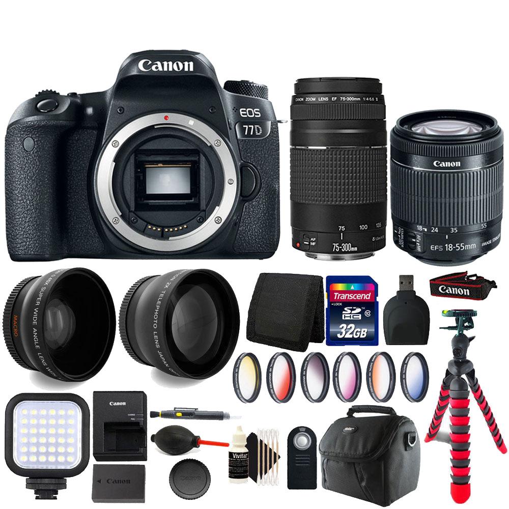 canon eos 77d 24.2mp digic 7 image processor dslr camera