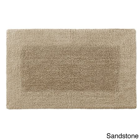Reversible Solid Egyptian Cotton And Rayon From Bamboo Bath Rug Collection 21x34 Sandstone