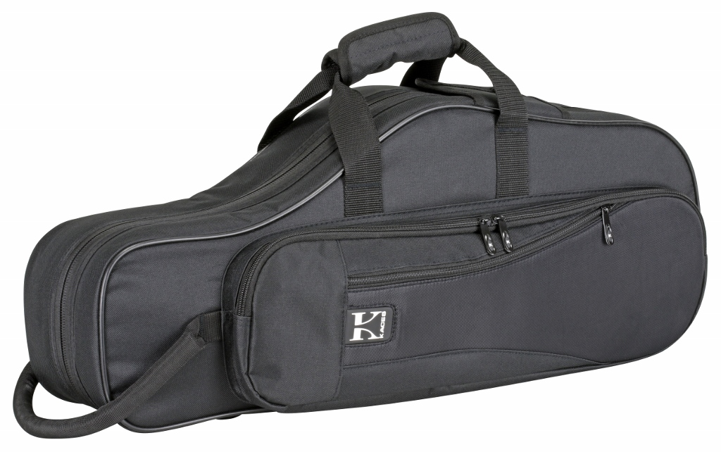 Kaces KBO-ASBK Lightweight Hardshell Alto Sax Case, Black by Kaces