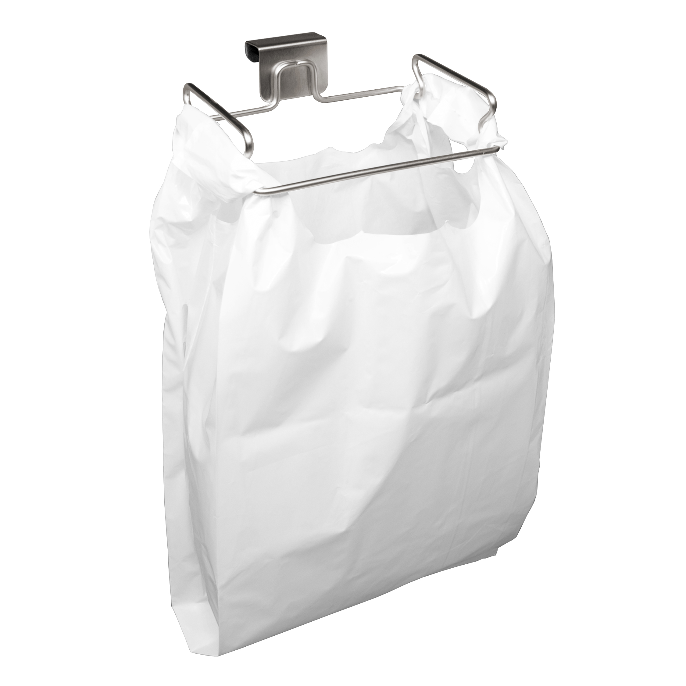 YouCopia Stainless Steel Over the Door Plastic Bag Trash Bin for Cabinets by YouCopia Products