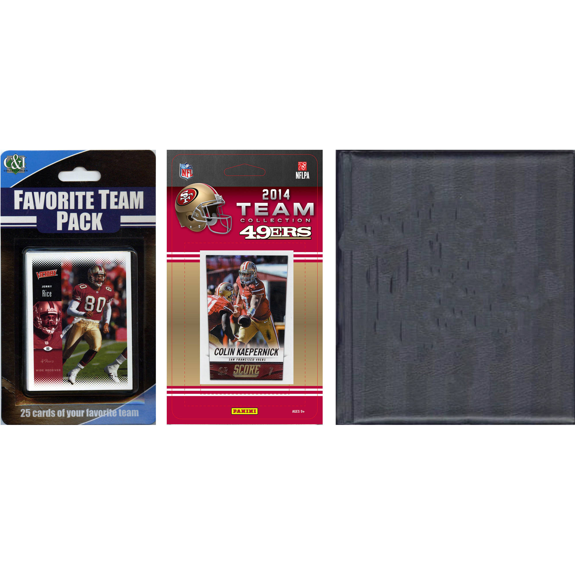 C&I Collectables NFL San Francisco 49ers Licensed 2014 Score Team Set and Favorite Player Trading Card Pack Plus Storage Album