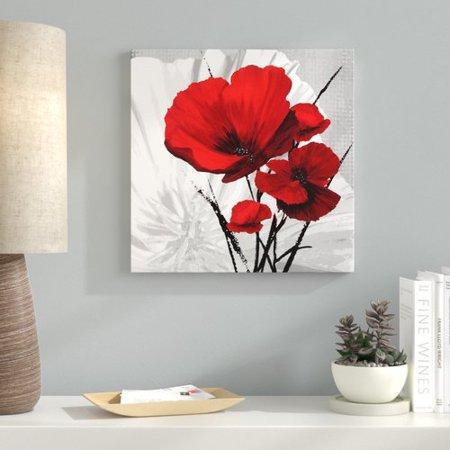 Ebern Designs 'Big Red Poppies II' Graphic Art Print on Canvas