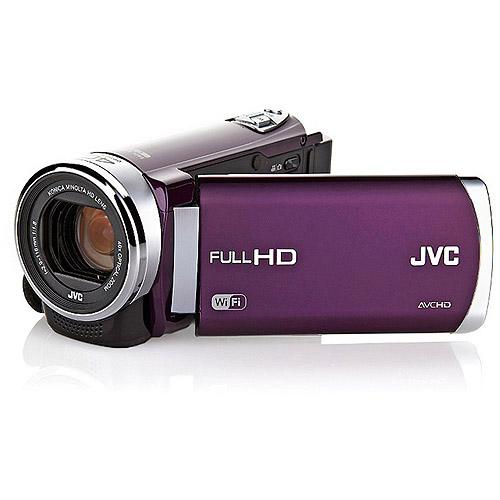 "JVC GZ-EX210VUS HD Everio Camcorder f1.8 40x Zoom 3.0"" Touchscreen WiFi (Violet)"