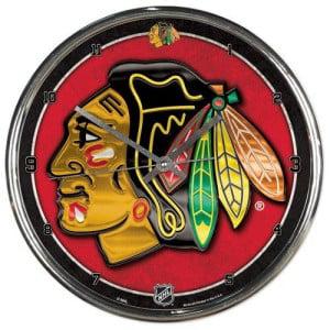 Chicago Blackhawks Round Chrome Wall